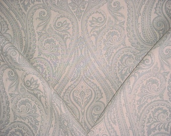 1-1/2 yards Clarence House Nina Blue - Floral Paisley Linen Upholstery Fabric - Free Shipping
