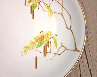 Heinrich Bavaria Germany Plate, Vintage China Replacement, Autumn