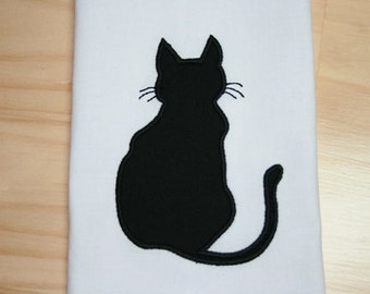 Cat Back Applique Design