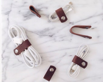 Leather Cord Organizer - 3 Pack