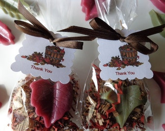 10 Fall Leaf Favors, 20 Soaps, Fall Events, Birthdays, Special Occasions