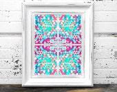 Pasel Aztec Pattern Print 8 x 10