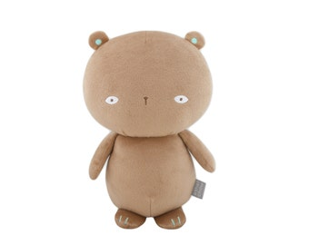Brown Bear plush with beanbag inside