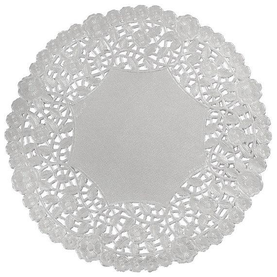 40 4 Silver Metallic Foil Paper Lace Doilies Party Doilies