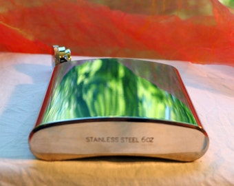 Vintage Flask - Liquor, Stainless Steel, 6 Oz - 1970's  - Fabulous!