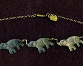 Pididdly Links Elephants Necklace