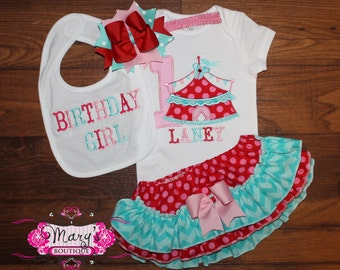 Circus/Carnival Tent Birthday Ruffled Bloomers Outfit