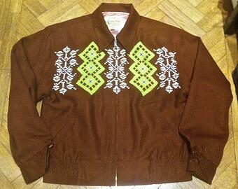 Vintage Rockabilly Rayon Gabardine Dry Bones Japan. 50s Style Rockabilly Jacket,Rock 'n'Roll.