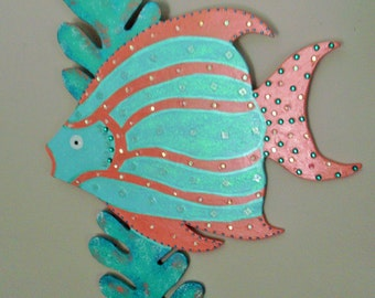 Fish Decor, Beach Decor, Nautical Decor, Wooden Fish,