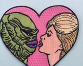 I'm in love with The Creature from the Black Lagoon iron on patch -3.5""