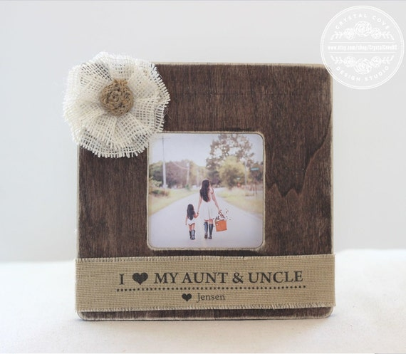 aunt uncle auntie gift personalized picture frame gift custom