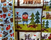 Lumberjack Nursery, Woodland Forest, Owl, Bear, Camping, Hunting, Nature, Boy Crib Bedding, Fox, Bear, Earthtones, Toddler Blanket, Rustic