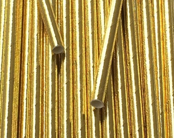 25 Gold Foil Paper Straws - Wedding Holidays - Drinking Straw - Party Supplies