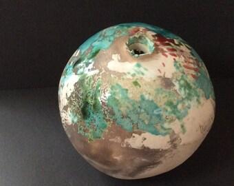 Blue & green Earth Jar