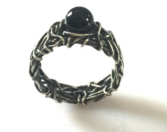 onyx engagement ring filigree ring rustic wedding gothic wedding ring unique engagement - Onyx Wedding Ring