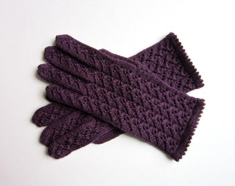 Knit Gloves Knitted Lace Wool Gloves Women's gloves Spring Accessories