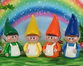 Elf for Fairy Garden OOAK cake topper, ornament, handmade