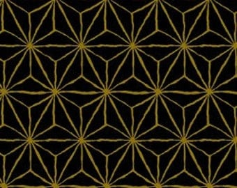 Japanese Gold Metallics, Geometric Black and Gold 3980 16D
