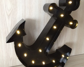 "Anchor Marquee Letter Light 12""... Light Up Sign, LED battery operated... great for nurseries or kids rooms"