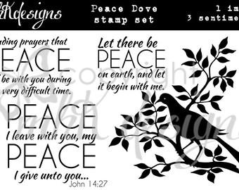Peace Dove Digita Stamp Set