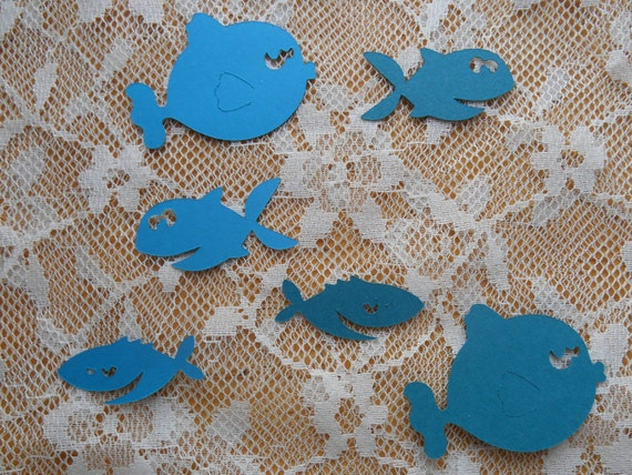 Fish Paper Die Cuts Choose Your Colors And Size By