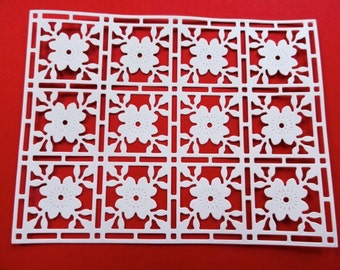 8 Lattice Frame Cardstock Die Cuts