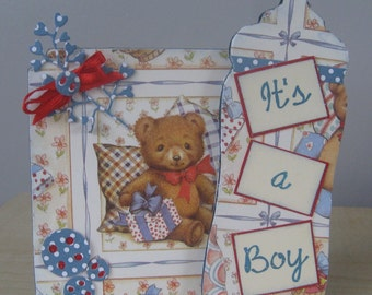 Hand Decorated Mdf 'It's a Boy' Keepsake Plaque **Free P&P**