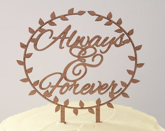 Always & Forever // Timber Wedding Cake Topper // Rustic Country Woodland Garden Romance // Australia