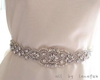 rhinestone applique for bridal sash belt  ZP79
