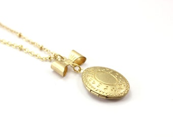 Golden Locket Necklace