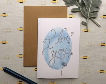 "Dandelion ""I Love You"" Valentine"