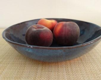 Large Blue Serving Bowl