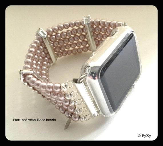 Stretchy Wedding Bands >> PyXY Beaded Apple Watch Band