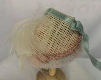 Dollhouse Miniature White Prairie Hat