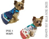 Bella Rose Dog Dress Pattern 1557 * Small & Medium * Dog Clothes Sewing Pattern * Dog Harness Dress * Designer Dog Clothes * Dog Apparel