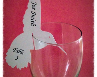 Bird Place Card Wine Markers