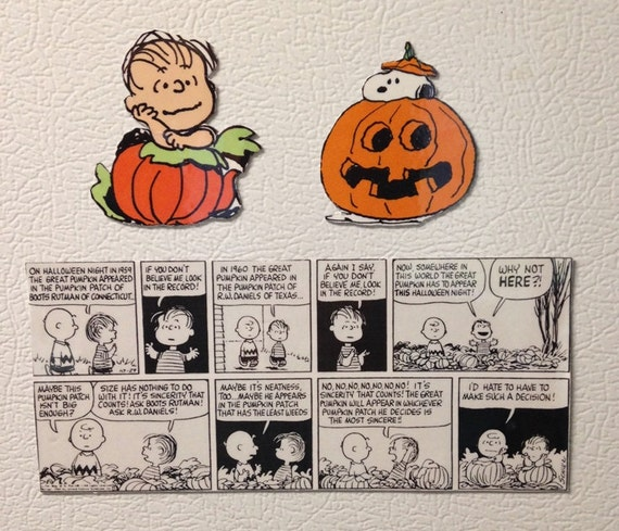 Peanuts Magnets Halloween Great Pumpkin Linus Halloween