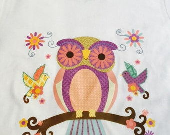 Adorable Owl T-shirt - Withe Shirt