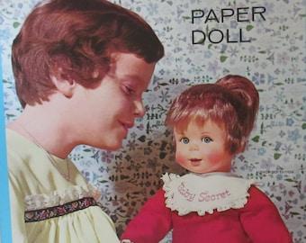 Vintage 1966 Whitman Paper Dolls Baby Secret W/ Mattel UNCUT ** Epsteam