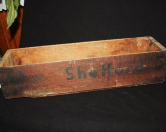 Vintage Wooden Shefford Cheese Box