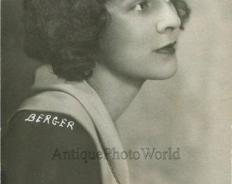 Beautiful actress Ruth Matteson antique photo