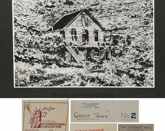 Ghost town surreal abstract photogram vintage photo