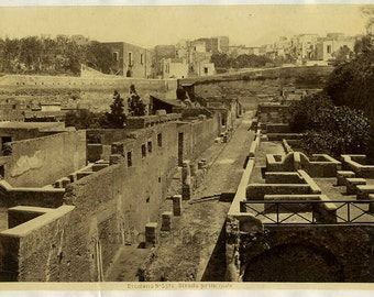Ercolano ruins antique art photo Italy
