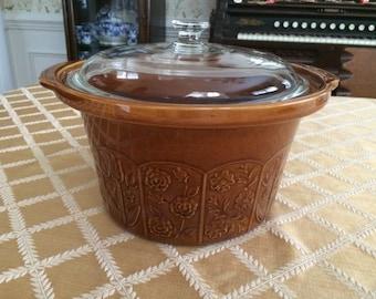 Vintage  large Covered Serving Deep Bowl