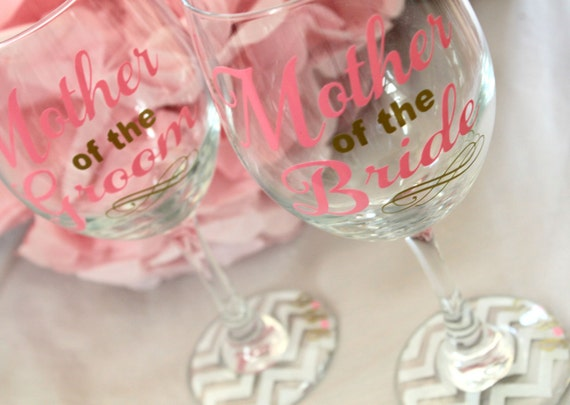 Mother Of The Groom Gift: Mother Of The Bride Wine Glass Mother Of The Bride Gift