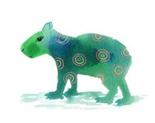 Capybara, Note Cards, Notecards, Blank Cards, Birthday Card, Cute Animals, Spirit Animal, Mystical Art, Small Art, Rodent, Kids Cards