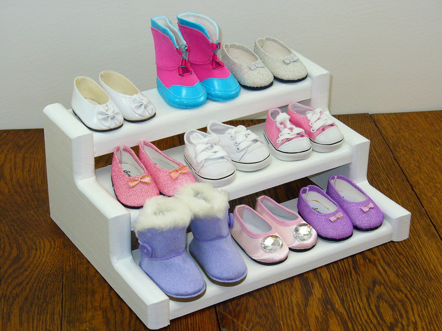 18 Inch Doll Furniture Shoe Rack Display Stand Display