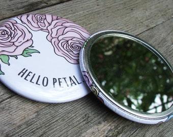 Hello Petal... - Pocket Mirror 58mm