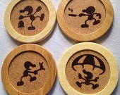 Set of 4 Mr. Game And Watch Coasters