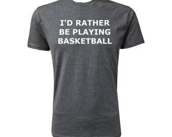 I'd Rather Be Playing Basketball - NLA Vintage Black